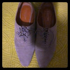 Used Suede Calvin Klein Shoes